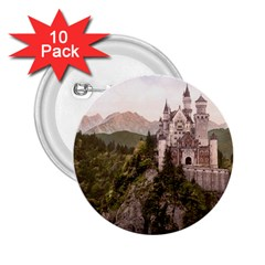 Neuschwanstein Castle 2 25  Buttons (10 Pack)  by trendistuff