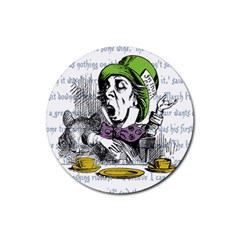 The Mad Hatter Rubber Round Coaster (4 Pack)