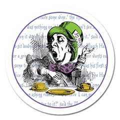 The Mad Hatter Magnet 5  (round)