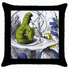 Alice In Wonderland Throw Pillow Cases (black) by waywardmuse