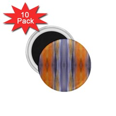 Gray Orange Stripes Painting 1 75  Magnets (10 Pack)  by Costasonlineshop