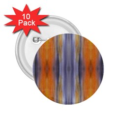 Gray Orange Stripes Painting 2 25  Buttons (10 Pack)  by Costasonlineshop