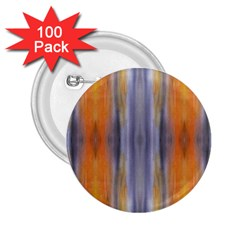 Gray Orange Stripes Painting 2 25  Buttons (100 Pack)  by Costasonlineshop