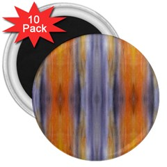 Gray Orange Stripes Painting 3  Magnets (10 Pack)  by Costasonlineshop