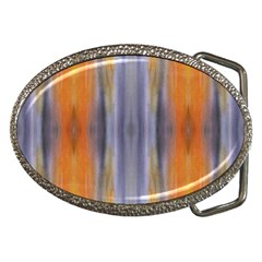Gray Orange Stripes Painting Belt Buckles by Costasonlineshop