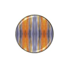 Gray Orange Stripes Painting Hat Clip Ball Marker by Costasonlineshop