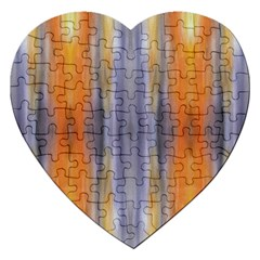 Gray Orange Stripes Painting Jigsaw Puzzle (heart) by Costasonlineshop