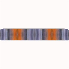Gray Orange Stripes Painting Small Bar Mats by Costasonlineshop