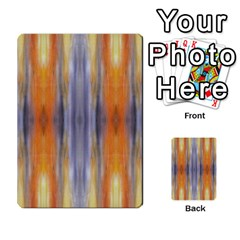 Gray Orange Stripes Painting Multi Purpose Cards (rectangle)  by Costasonlineshop