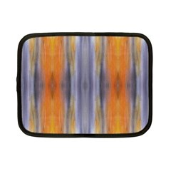 Gray Orange Stripes Painting Netbook Case (small)  by Costasonlineshop