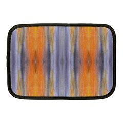 Gray Orange Stripes Painting Netbook Case (medium)  by Costasonlineshop