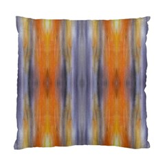 Gray Orange Stripes Painting Standard Cushion Cases (two Sides)  by Costasonlineshop
