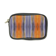 Gray Orange Stripes Painting Coin Purse by Costasonlineshop