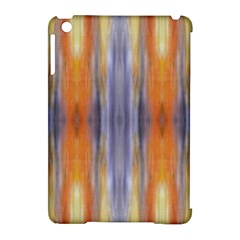 Gray Orange Stripes Painting Apple Ipad Mini Hardshell Case (compatible With Smart Cover) by Costasonlineshop