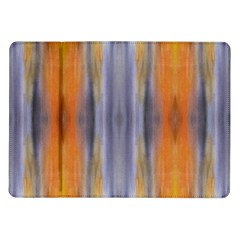 Gray Orange Stripes Painting Samsung Galaxy Tab 10 1  P7500 Flip Case by Costasonlineshop