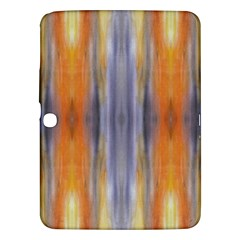 Gray Orange Stripes Painting Samsung Galaxy Tab 3 (10 1 ) P5200 Hardshell Case  by Costasonlineshop