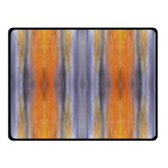 Gray Orange Stripes Painting Double Sided Fleece Blanket (small)  by Costasonlineshop