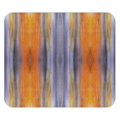 Gray Orange Stripes Painting Double Sided Flano Blanket (small)