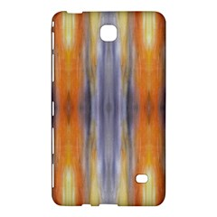 Gray Orange Stripes Painting Samsung Galaxy Tab 4 (8 ) Hardshell Case  by Costasonlineshop