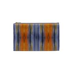 Gray Orange Stripes Painting Cosmetic Bag (xs) by Costasonlineshop