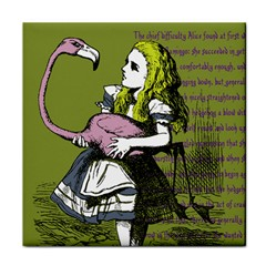 Flamingo Croquet Tile Coasters