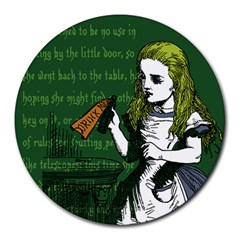 Alice In Wonderland Round Mousepads by waywardmuse