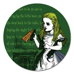 Alice In Wonderland Magnet 5  (round)