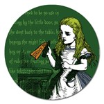 Alice In Wonderland Magnet 5  (Round) Front