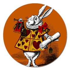 The White Rabbit Magnet 5  (round)