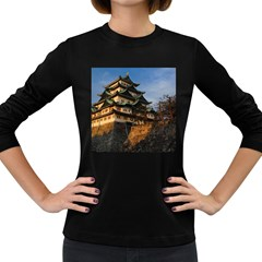 Nagoya Castle Women s Long Sleeve Dark T Shirts by trendistuff