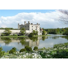 Leeds Castle Birthday Cake 3d Greeting Card (7x5)  by trendistuff