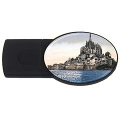 Le Mont St Michel 2 Usb Flash Drive Oval (2 Gb)  by trendistuff