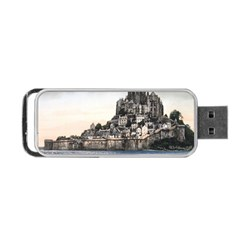 Le Mont St Michel 2 Portable Usb Flash (two Sides)
