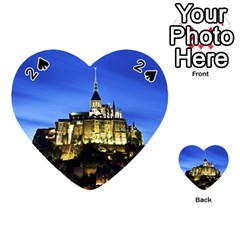 Le Mont St Michel 1 Playing Cards 54 (heart)  by trendistuff