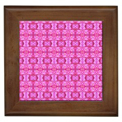 Pretty Pink Flower Pattern Framed Tiles