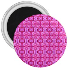 Pretty Pink Flower Pattern 3  Magnets