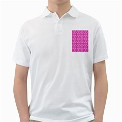 Pretty Pink Flower Pattern Golf Shirts