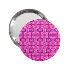 Pretty Pink Flower Pattern 2.25  Handbag Mirrors