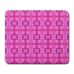 Pretty Pink Flower Pattern Large Mousepads