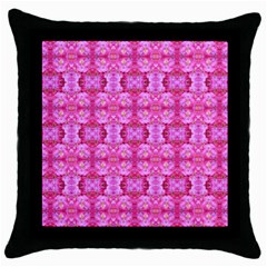 Pretty Pink Flower Pattern Throw Pillow Cases (Black)