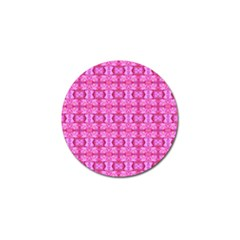 Pretty Pink Flower Pattern Golf Ball Marker (4 pack)