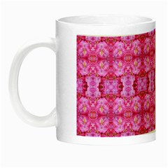 Pretty Pink Flower Pattern Night Luminous Mugs