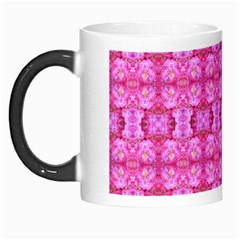 Pretty Pink Flower Pattern Morph Mugs