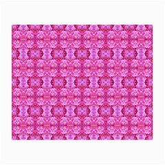 Pretty Pink Flower Pattern Small Glasses Cloth