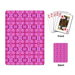 Pretty Pink Flower Pattern Playing Card