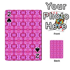 Pretty Pink Flower Pattern Playing Cards 54 Designs