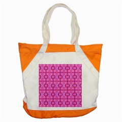 Pretty Pink Flower Pattern Accent Tote Bag
