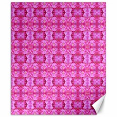Pretty Pink Flower Pattern Canvas 8  x 10