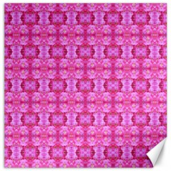 Pretty Pink Flower Pattern Canvas 12  x 12