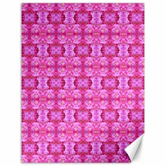 Pretty Pink Flower Pattern Canvas 12  x 16
